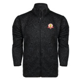 Black Heather Fleece Jacket-Alumni Association