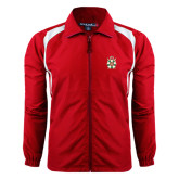 Full Zip Red Wind Jacket-Knighthood