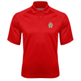 Red Textured Saddle Shoulder Polo-Knighthood