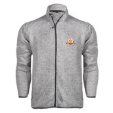 Grey Heather Fleece Jacket-Alumni Association