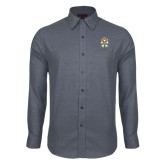 Red House Dark Charcoal Diamond Dobby Long Sleeve Shirt-Knighthood