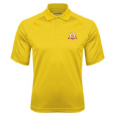 Gold Textured Saddle Shoulder Polo-Alumni Association