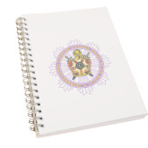 Clear 7 x 10 Spiral Journal Notebook-Emblem in Ring