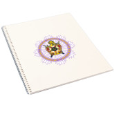 College Spiral Notebook w/Clear Coil-Emblem in Ring