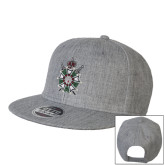 Heather Grey Wool Blend Flat Bill Snapback Hat-Knighthood