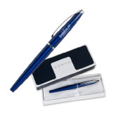 Cross ATX Blue Lacquer Rollerball Pen-Official Logo Engraved