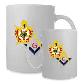 Full Color White Mug 15oz-Masons DeMolay
