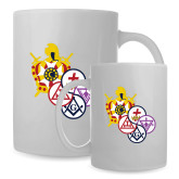 Full Color White Mug 15oz-York Rite DeMolay