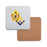 Hardboard Coaster w/Cork Backing-Masons DeMolay