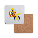 Hardboard Coaster w/Cork Backing-Shriners DeMolay