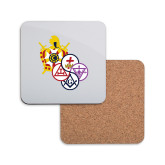 Hardboard Coaster w/Cork Backing-York Rite DeMolay