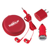 3 in 1 Red Audio Travel Kit-Official Logo