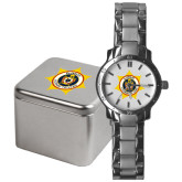 Mens Stainless Steel Fashion Watch-Emblem on Badge