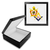 Ebony Black Accessory Box With 6 x 6 Tile-Masons DeMolay