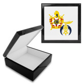 Ebony Black Accessory Box With 6 x 6 Tile-Shriners DeMolay