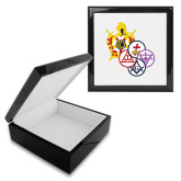 Ebony Black Accessory Box With 6 x 6 Tile-York Rite DeMolay