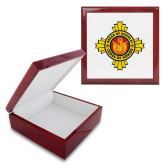 Red Mahogany Accessory Box With 6 x 6 Tile-Cross of Honor