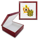 Red Mahogany Accessory Box With 6 x 6 Tile-Scottish Rite DeMolay