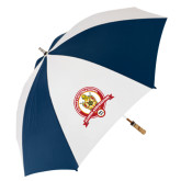 62 Inch Navy/White Umbrella-Alumni Association