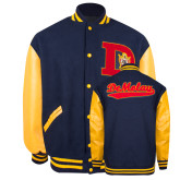 Jacket with Letterman Patch, XL-