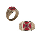 Gold Plated Legion of Honor Ring Size 10.5-