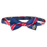 Bowtie Navy/Red Stripe with Emblem, Pre Tied-