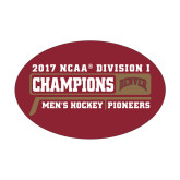 Medium Decal-2017 NCAA Division I Mens Hockey Champions, 8 in W