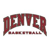 Medium Decal-Denver Basketball, 8 inches wide