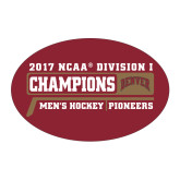 Large Decal-2017 NCAA Division I Mens Hockey Champions, 12 in W