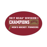 Small Decal-2017 NCAA Division I Mens Hockey Champions, 6 in W