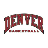 Small Decal-Denver Basketball, 6 inches wide