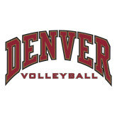 Extra Large Decal-Denver Volleyball, 18 inches wide