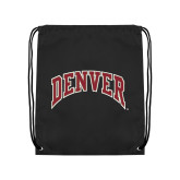 Black Drawstring Backpack-Primary Mark