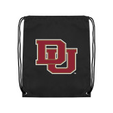 Black Drawstring Backpack-DU