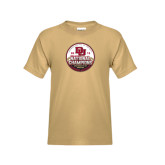 Youth Khaki Gold T Shirt-2015 National Champions