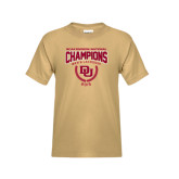 Youth Khaki Gold T Shirt-NCAA Division I Lacrosse Champs