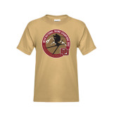 Youth Khaki Gold T Shirt-2016 National Skiing Champs