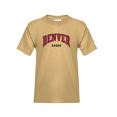 Youth Khaki Gold T Shirt-Rugby