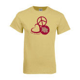 Champion Vegas Gold T Shirt-Peace, Love, and Volleyball