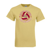 Champion Vegas Gold T Shirt-Volleyball Stars Design