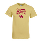 Champion Vegas Gold T Shirt-Tennis Game Set Match