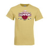 Champion Vegas Gold T Shirt-2014 NCHC Tournament Champions