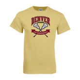 Champion Vegas Gold T Shirt-Lacrosse 50th Anniversary