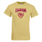Champion Vegas Gold T Shirt-NCAA Division I Lacrosse Champs