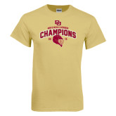 Champion Vegas Gold T Shirt-Mens NCAA Lacrosse Champs