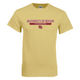 Champion Vegas Gold T Shirt-University of Denver Pioneers Bar Stacked