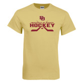 Champion Vegas Gold T Shirt-University of Denver Hockey Crossed Sticks