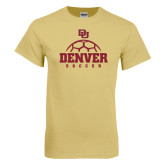 Champion Vegas Gold T Shirt-Denver Soccer Half Ball