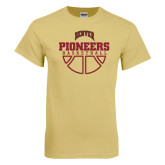 Champion Vegas Gold T Shirt-Pioneers Basketball Half Ball