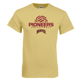 Champion Vegas Gold T Shirt-Pioneers Volleyball Geometric Half Ball